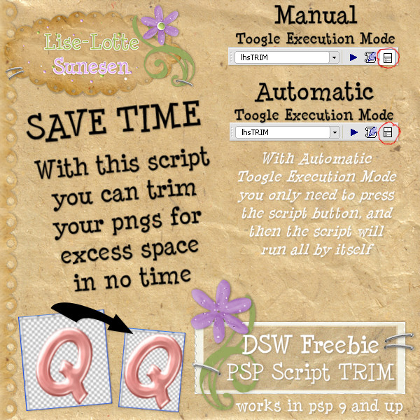 PSP Script TRIM - Free Gift - Click Image to Close