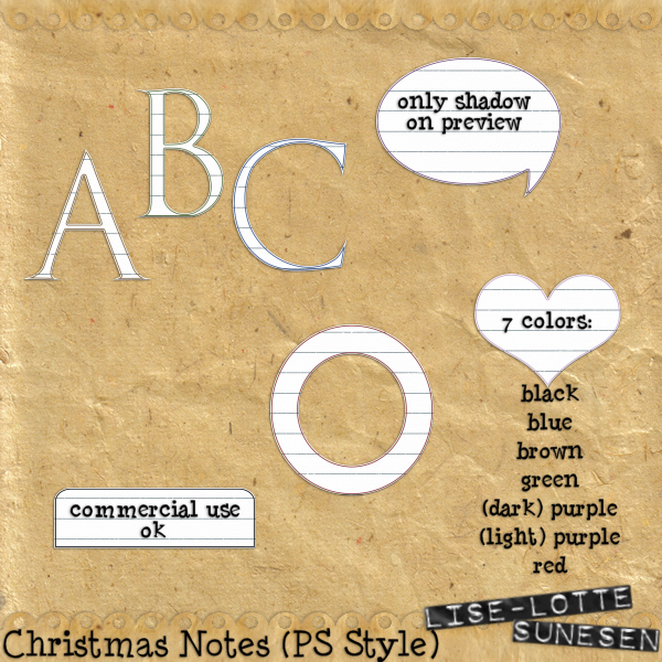 Christmas Notes (PS Styles)