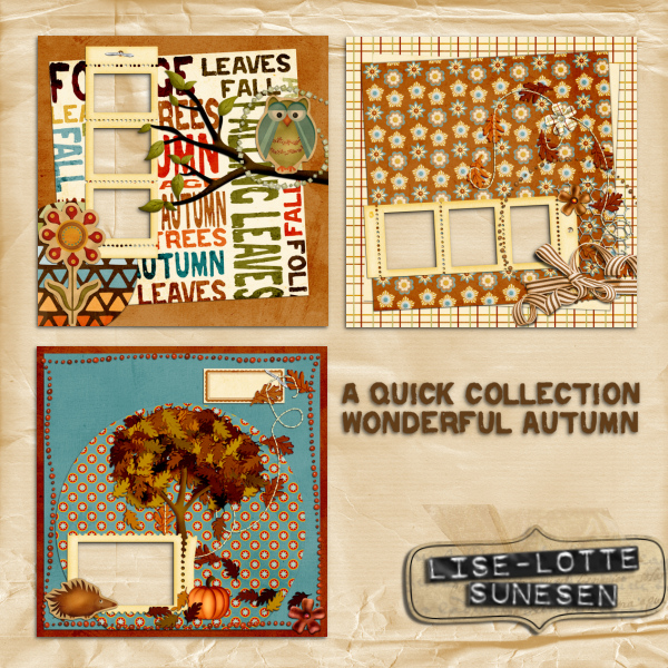 Wonderful Autumn - Quick Pages