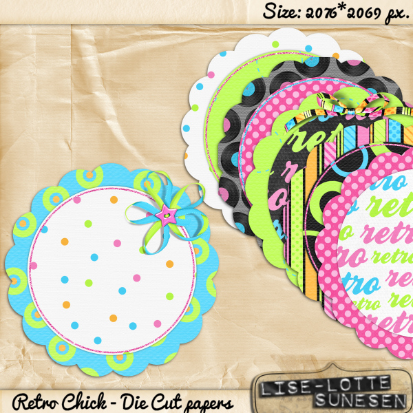 Retro Chick - Die Cut Papers