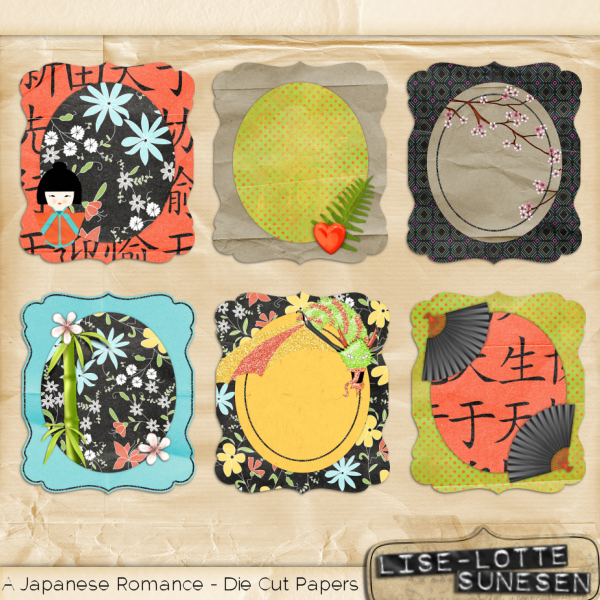 A Japanese Romance - Die Cut Papers