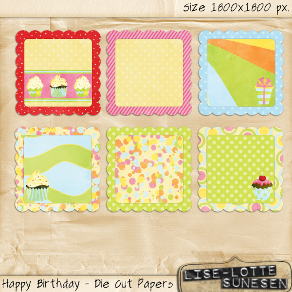 Happy Birthday - Die Cut Papers