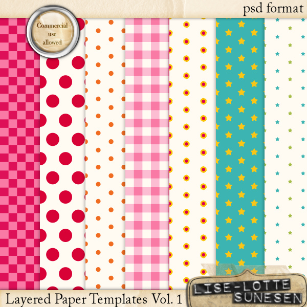 Layered Paper Templates Vol. 1 - CU OK