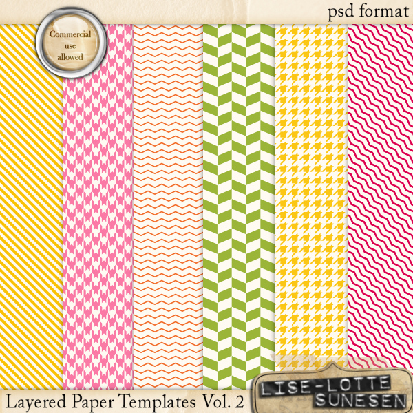 Layered Paper Templates Vol. 2 - CU OK