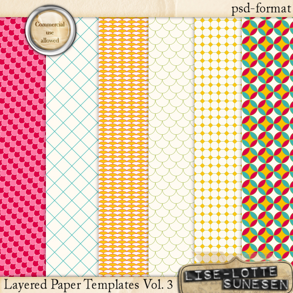 Layered Paper Templates Vol. 3 - CU OK
