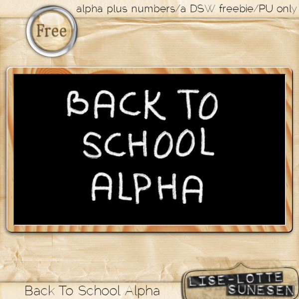 Back To School Alpha - Free Gift - Click Image to Close