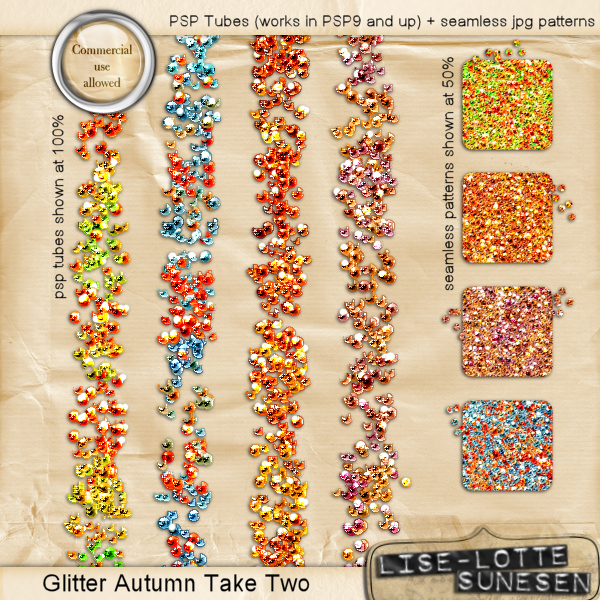 Autumn Take Two (PSP Glitter Tubes + Seamless Patterns)