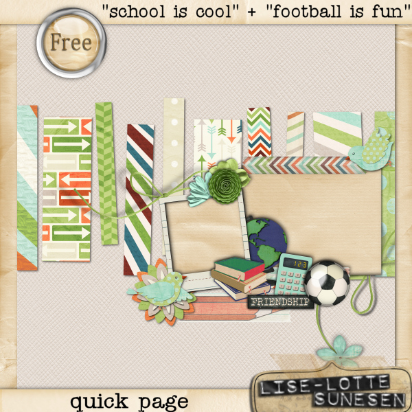 School Is Cool + Football Is Fun - Quick Page - Free Gift - Click Image to Close
