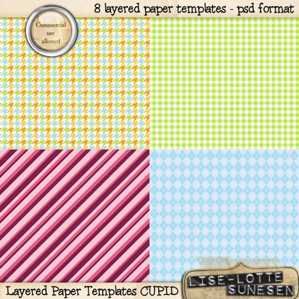 Cupid - Layered Paper Templates - CU OK - Click Image to Close