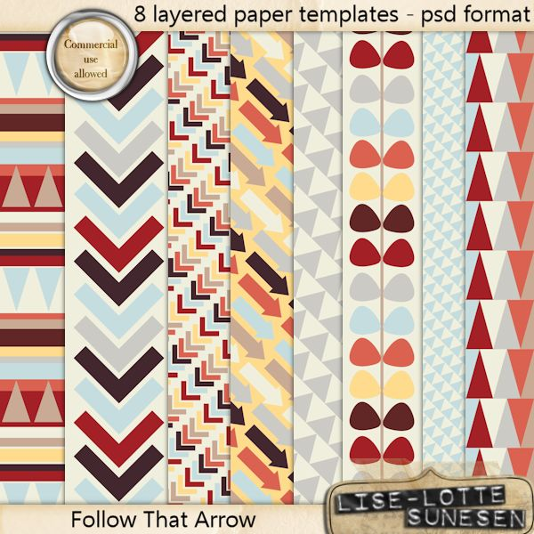 Follow That Arrow - Layered Paper Templates - CU OK