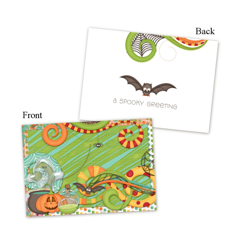 Trick Or Treat - A Printable Halloween Card