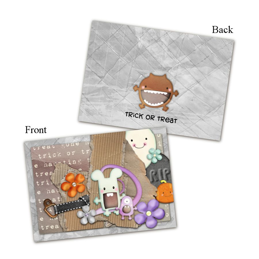 Too Cute To Scare - A Printable Halloween Card