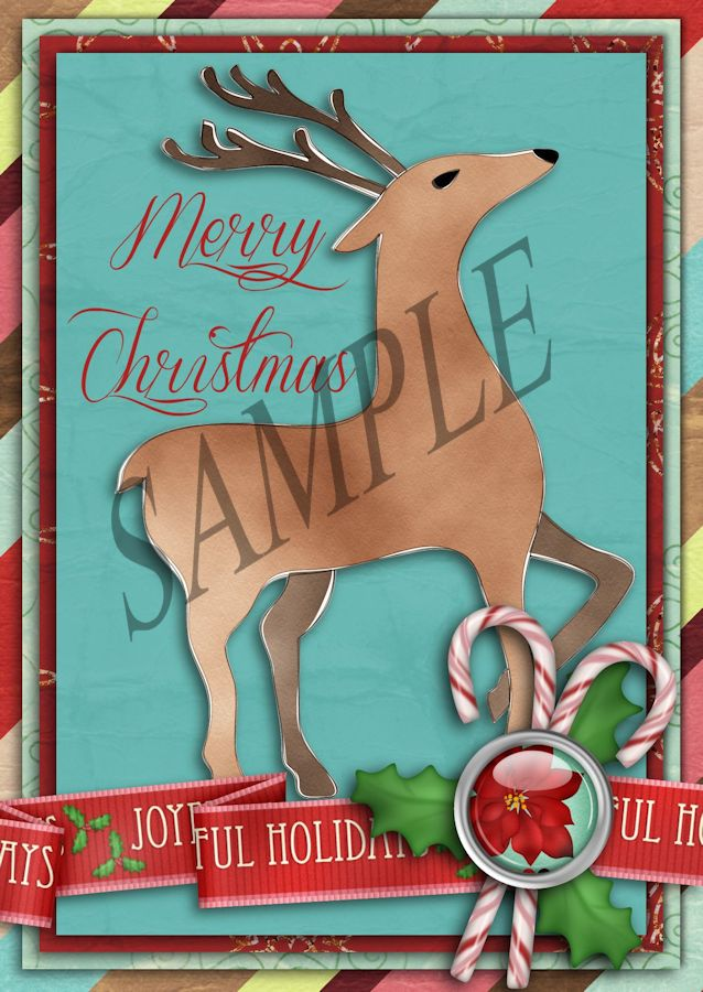 Joyful Times - A Printable Christmas Card