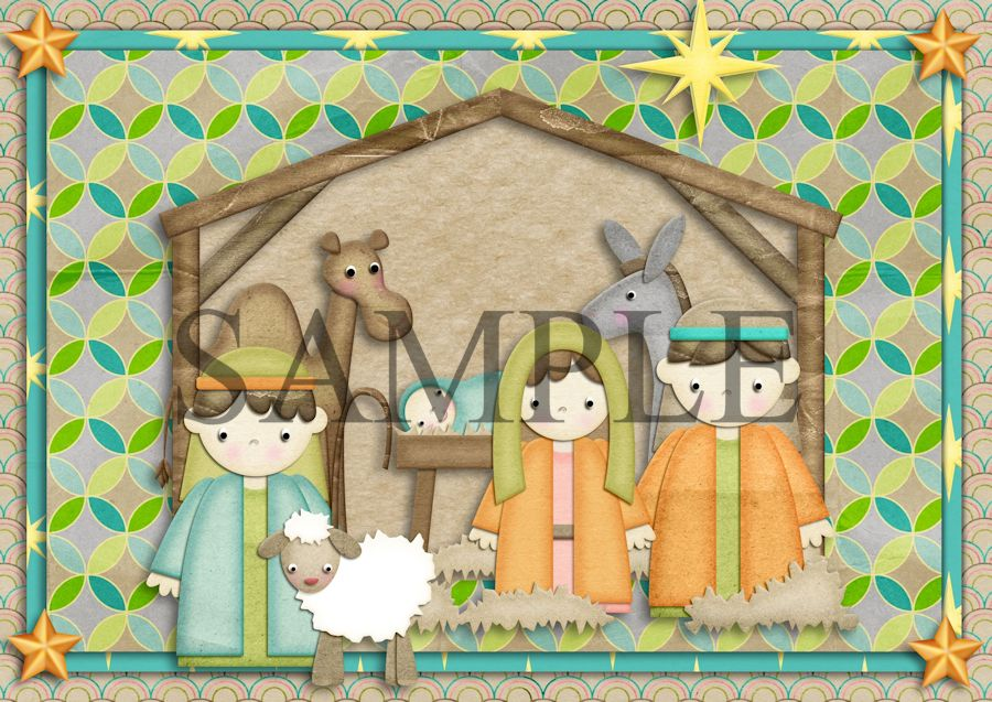Holy Night 2 - A Printable Christmas Card