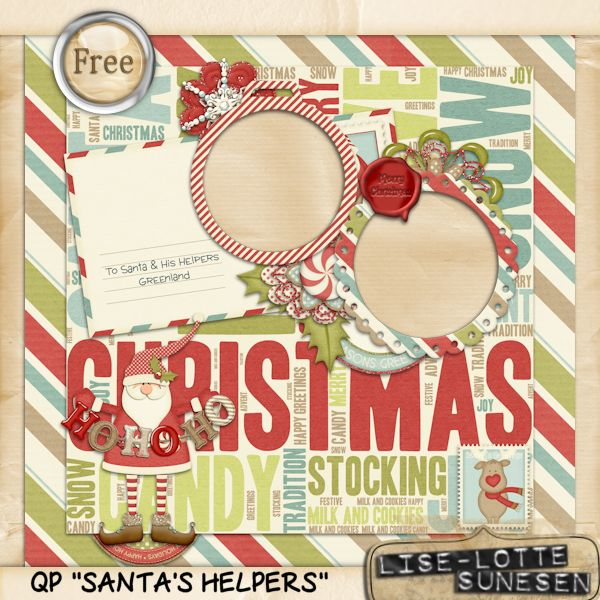 Santa's Helpers - Quick Page - Free Gift