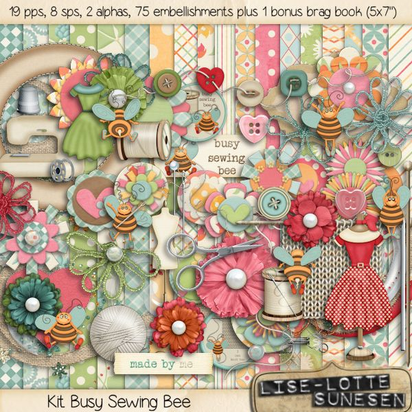 Busy Sewing Bee - Click Image to Close
