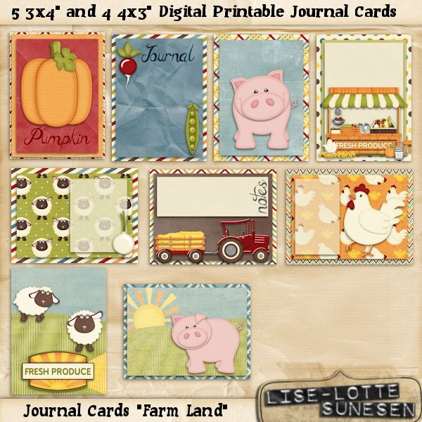 Farm Land - Journal Cards - Click Image to Close