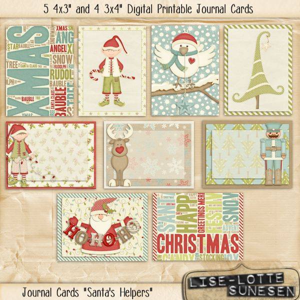 Santa's Helpers - Journal Cards