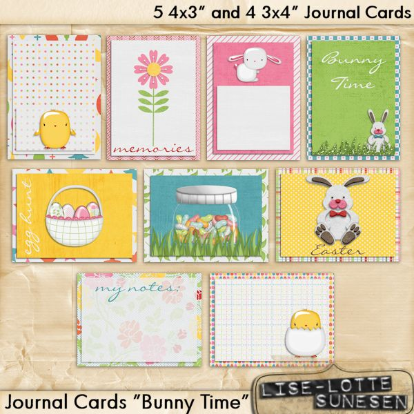 Bunny Time - Journal Cards