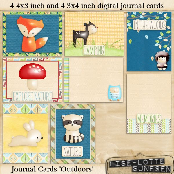 Outdoors - Journal Cards