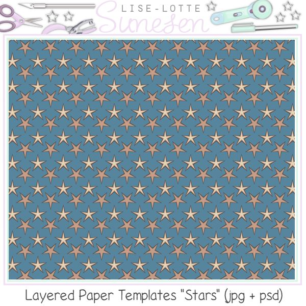 Stars - Layered Paper Templates - CU OK