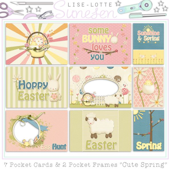 Cute Spring - Pocket Cards & Pocket Frames