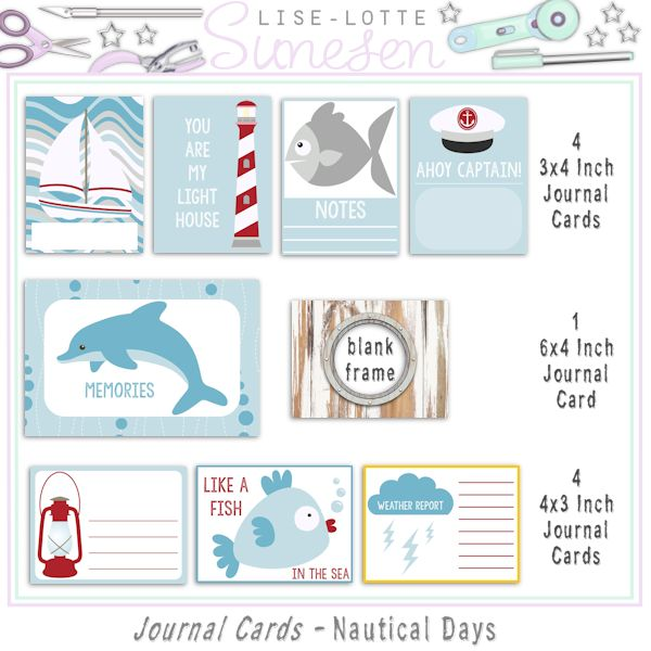 Nautical Days - Journal And Pocket Cards