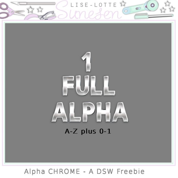 Alpha Chrome - A DSW Freebie