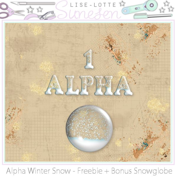 Winter Snow - Alpha + Snow Globe