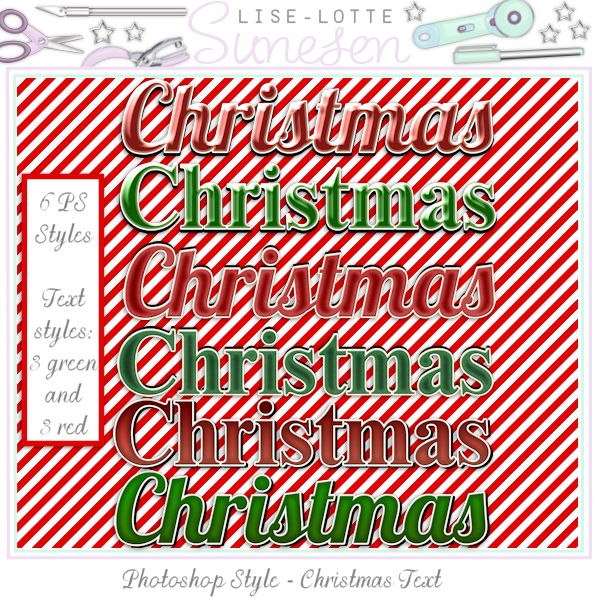 Christmas Text Styles (PS Styles)