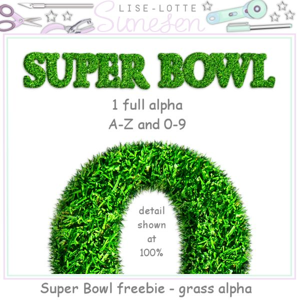 Grass Alpha - A Super Bowl Freebie