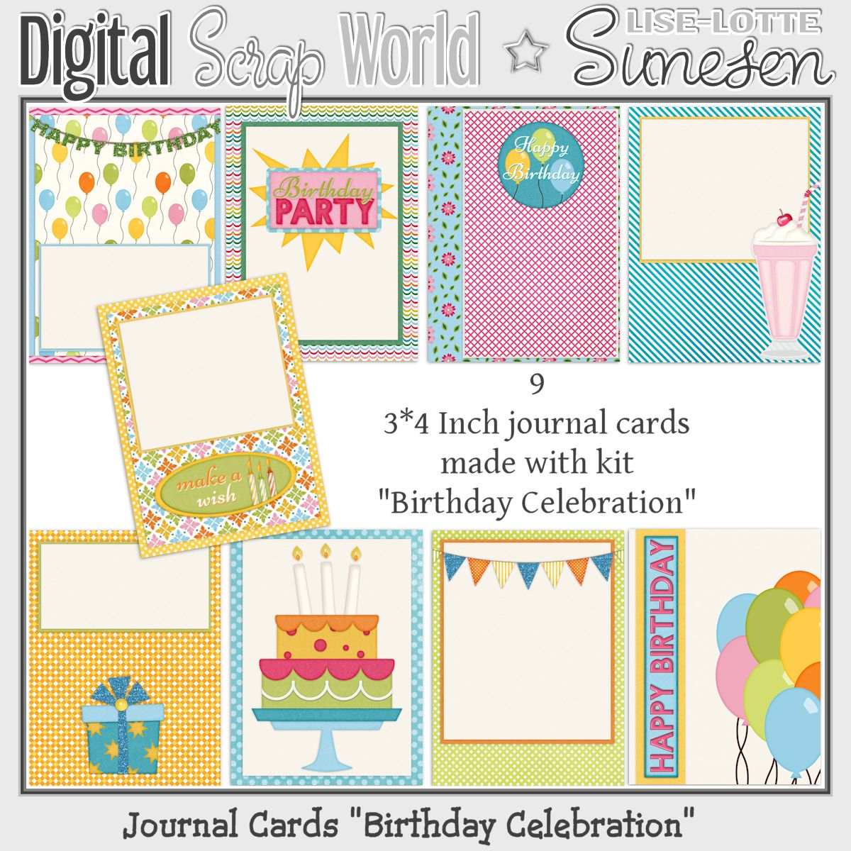 Birthday Celebration - Journal Cards