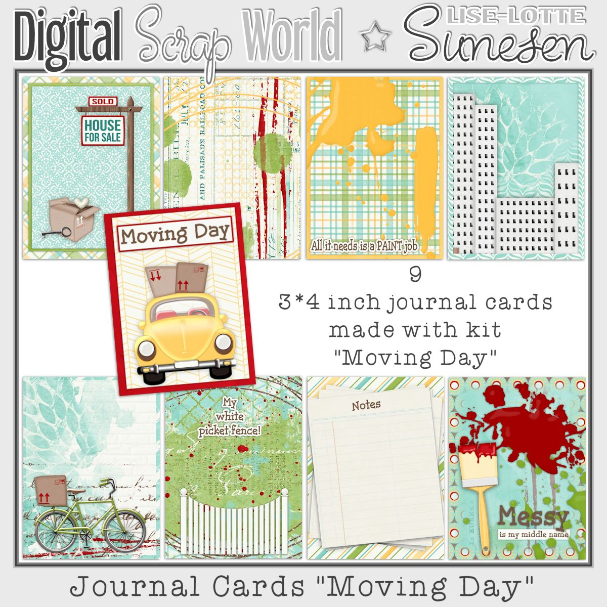 Moving Day - Journal Cards