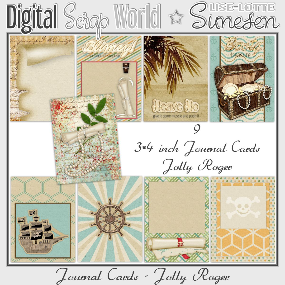 Jolly Roger - Journal Cards