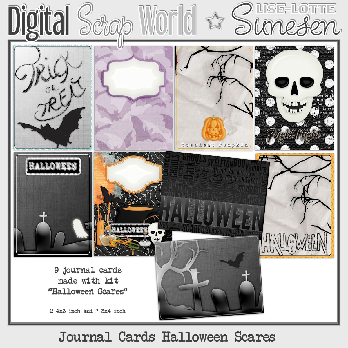 Halloween Scares - Journal Cards