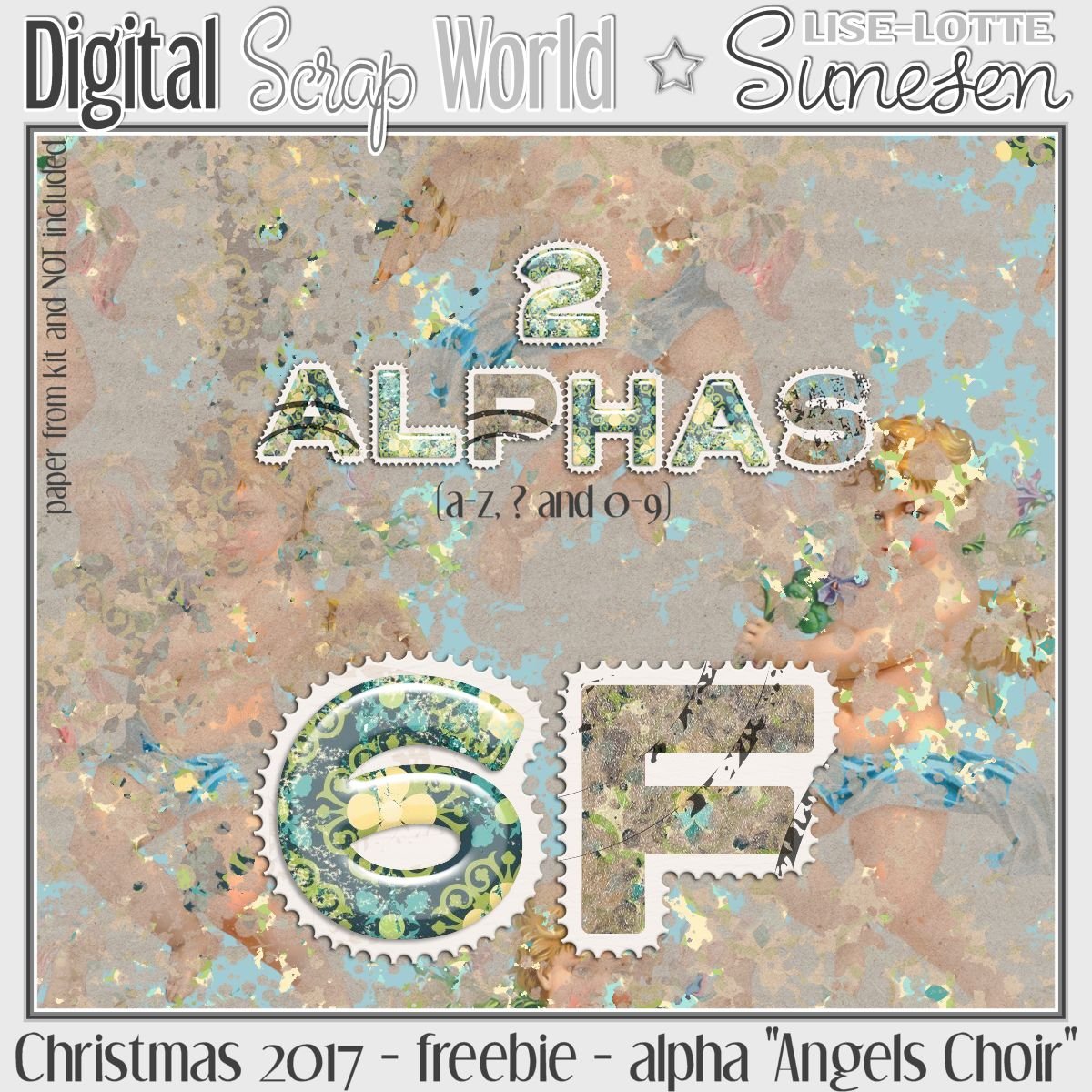 "Christmas 2017 - freebie - Alpha ""Angels Choir"""